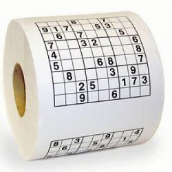 rollo papel higienico sudoku