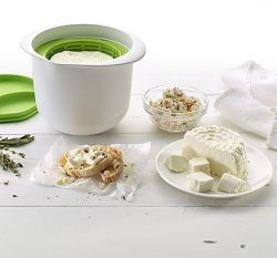 recipiente para preparar queso fresco