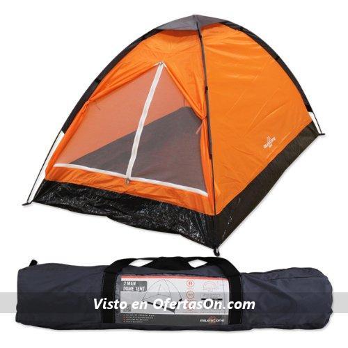74cf47ee7ca Si quieres una tienda sencilla y barata para dos personas, no busques más,  la Milestone Camping es la tuya. Tiene el espacio justito para dos personas  y su ...