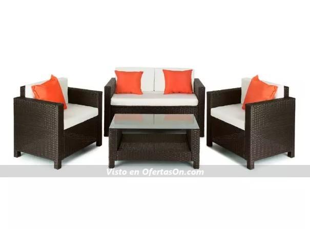 Juego de muebles para jard n sof 2 butacas y mesita for Butaca de jardin