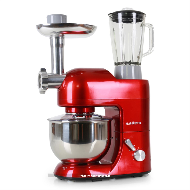 Robot de cocina klarstein lucia rossa con batidora y - Robot de cocina moulinex carrefour puntos ...