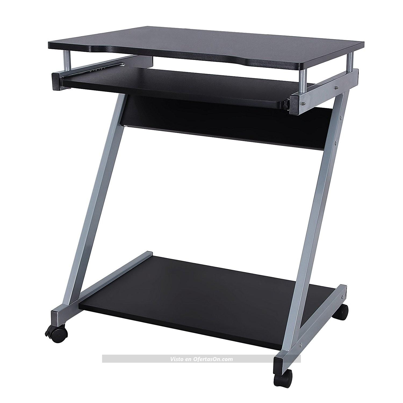 Mesa de ordenador songmics lcd811b negro por 38 99 for Mesas de ordenador amazon