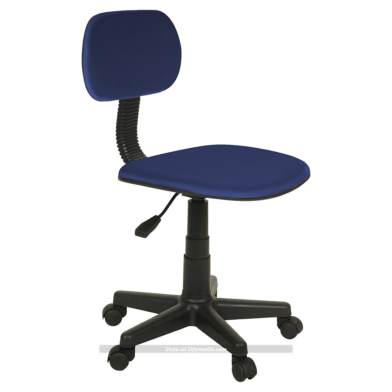 Silla de escritorio giratoria lucky azul por 27 ofertason for Sillas de escritorio ergonomicas