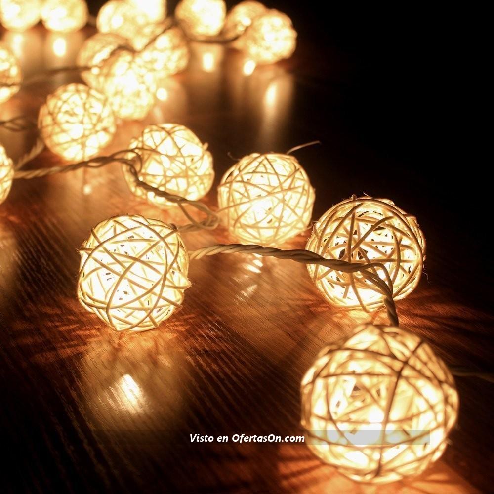 Tira con 20 bolas de navidad con iluminaci n led por 4 85 - Tiras led navidad ...