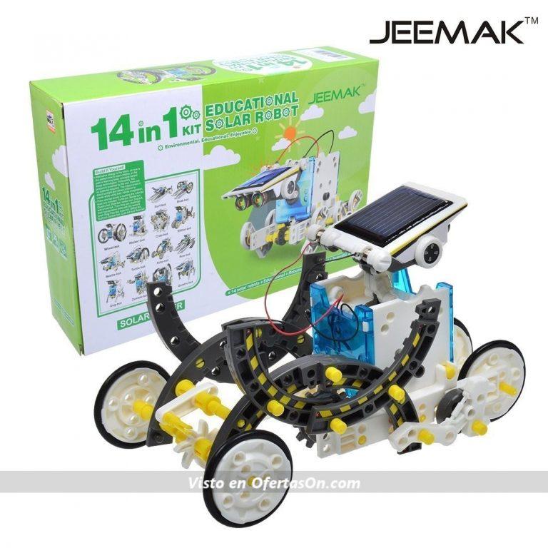 kit robot solar 14 en 1 de jeemak