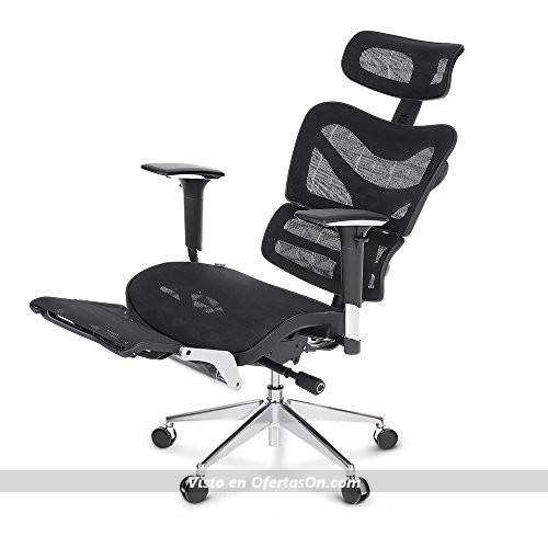 Silla de escritorio ergon mica con reposapi s ikayaa 726al for Sillas de escritorio ofertas