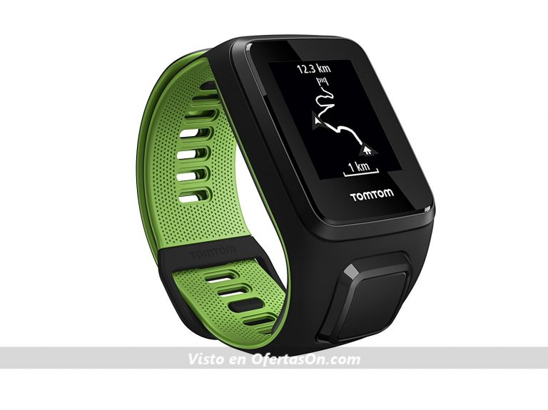 reloj deportivo tomtom runner 3 cardio+music negro-verde