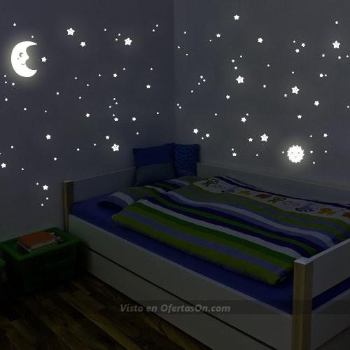 Adhesivos de pared luminosos Sol, luna y estrellas Juego XL de Wandkings