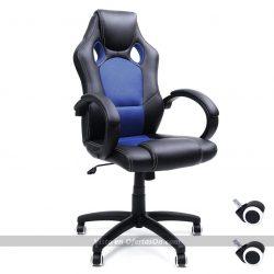 Silla de escritorio ergonomica Songmics Racing OBG56L negro-azul