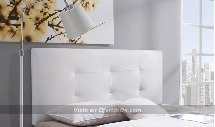 Cabecero de cama tapizado disponible en varios modelos, dimensiones y colores