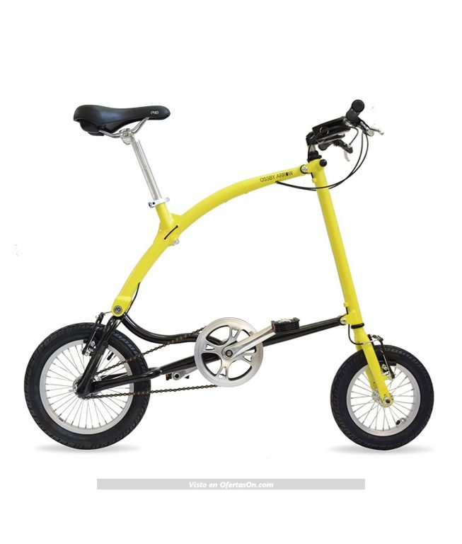 Bicicleta plegable Ossby Arrow color amarillo