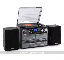 Microcadena Auna TC-386 con tocadiscos y cassette