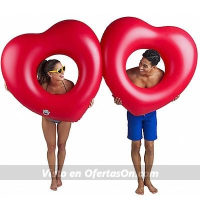flotador gigante doble corazones (2 uds)