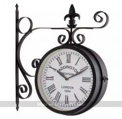 Reloj de pared exterior vintage de acero Blumfeldt Paddington 23cm