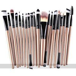 Set de pinceles y cepillos de maquillaje Demarkt (15 piezas)