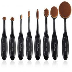 Juego de brochas de maquillaje ovaladas EmaxDesign (8pcs)