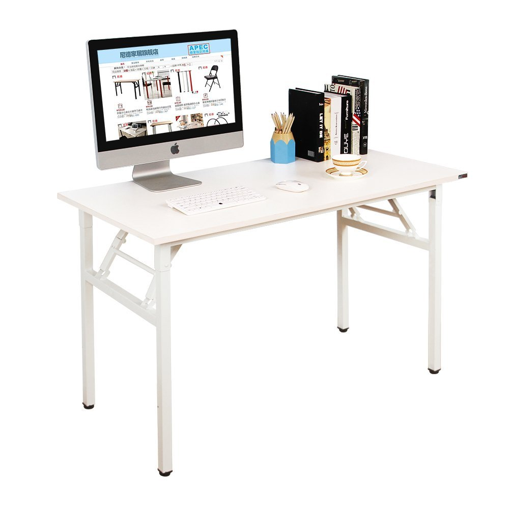 Mesa escritorio plegable need 120x60cm blanco por 79 for Mesa plegable ordenador