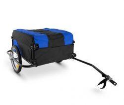 Remolque para bicicleta Mountee 130L 60Kg con tubo de acero azul-negro