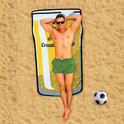 Toalla de Playa Gigante Pinta de Cerveza