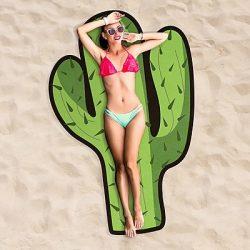toalla de playa gigante cactus