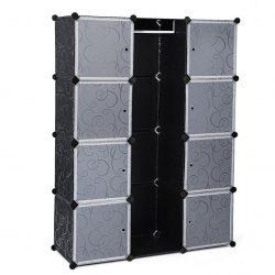 Armario modular Songmics de facil montaje LPC30B 145 x 110 x 37cm