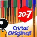 Bolígrafos BIC Cristal Original Fine (27 uds.) color azul, negro, rojo y verde