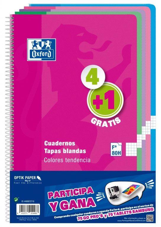 Cuadernos espiralados Oxford 400072719 (5 uds., varios colores)