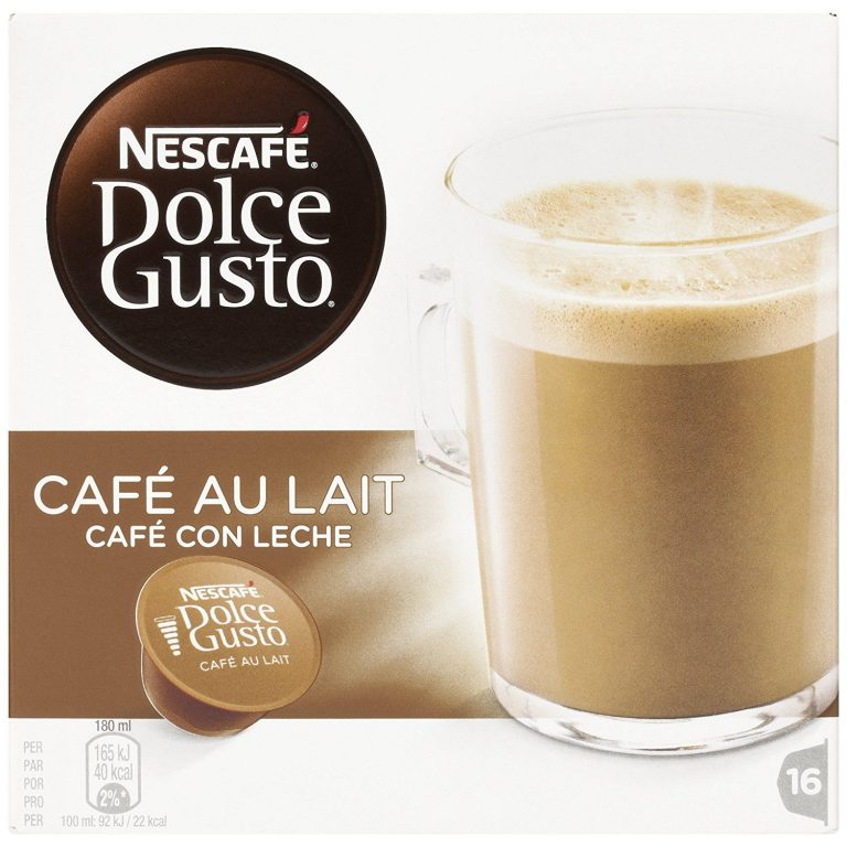 Nescafé Dolce Gusto. 3 Paquetes de 16 Cápsulas Café con leche, más barato que en el súper