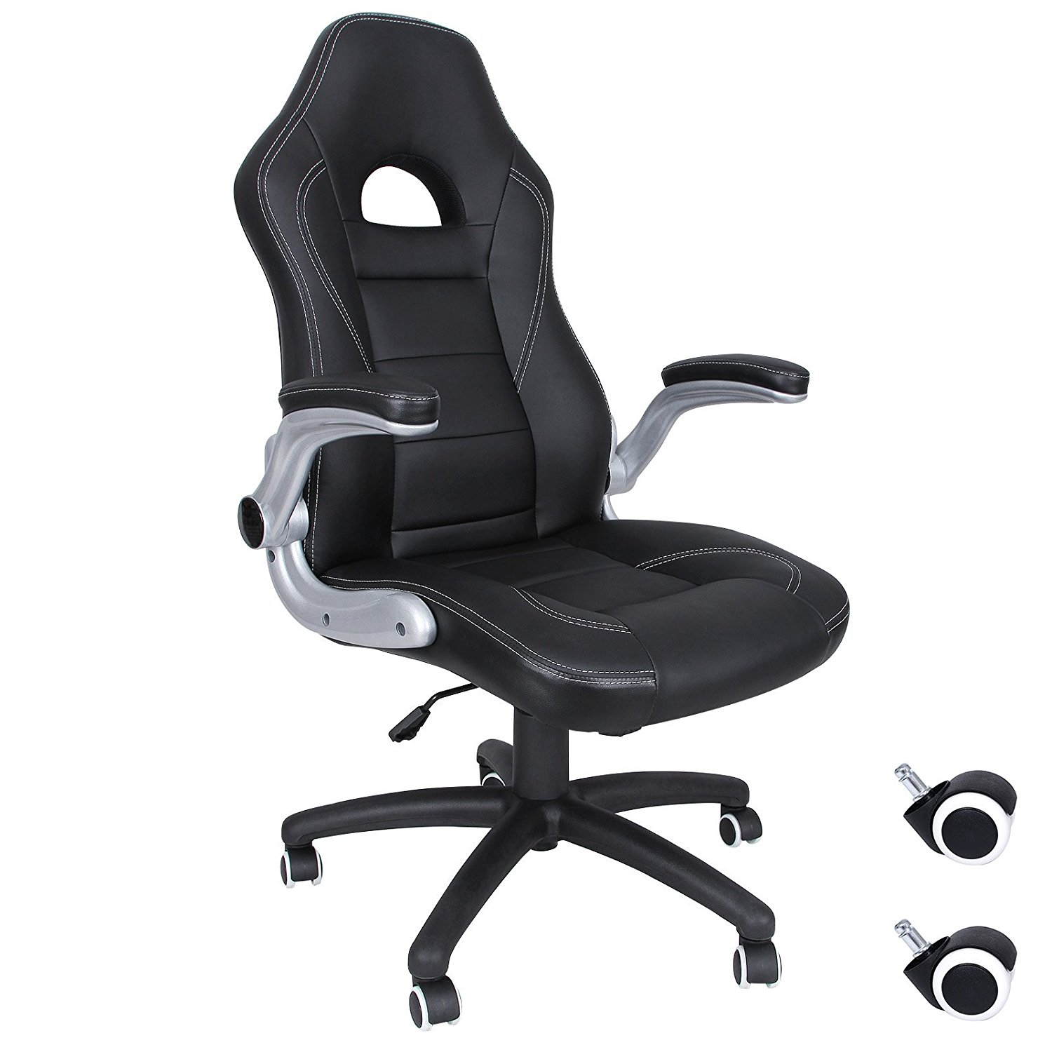 Silla de escritorio songmics racing negro obg28b por 99 99 for Precio silla escritorio