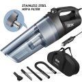 Aspirador de mano para coche 100W con filtro de acero inoxidable, bolsa y accesorios Deik