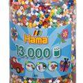 Bote de cuentas para crear figuras Hama (13.000 cuentas)