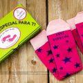 Calcetines para mujer con mensaje Eres especial y punto