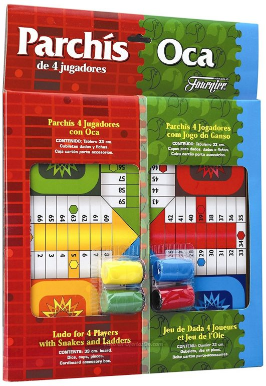 Juegos Parchís + Oca con tablero y fichas Fournier