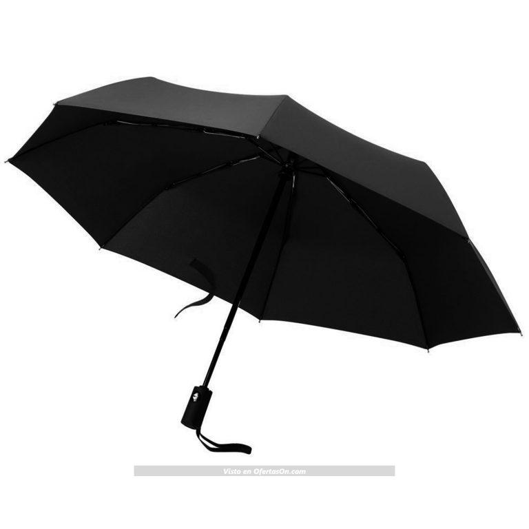 Paraguas resistente al viento automático plegable negro MLoveBiTi