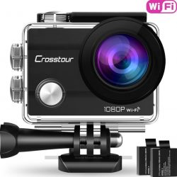 Cámara deportiva Crosstour CT7000 Wifi 1080P Full HD 2.0 LCD sumergible + accesorios