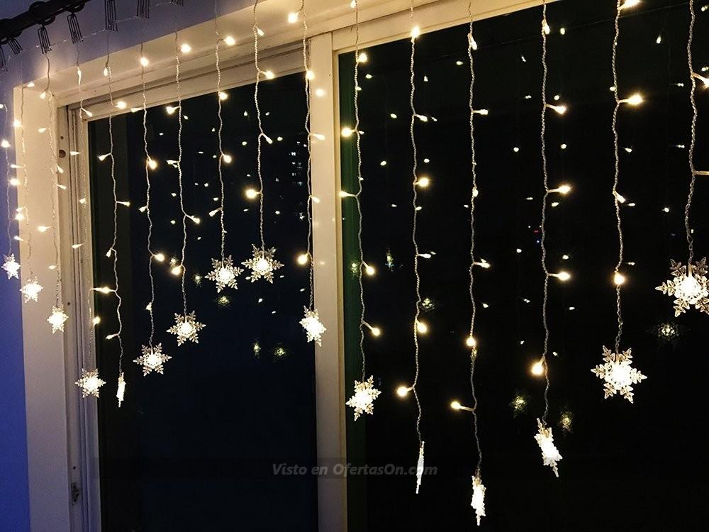 Cortina de luces led con motivos navide os bloomwin 2x1 m for Cortinas con luces