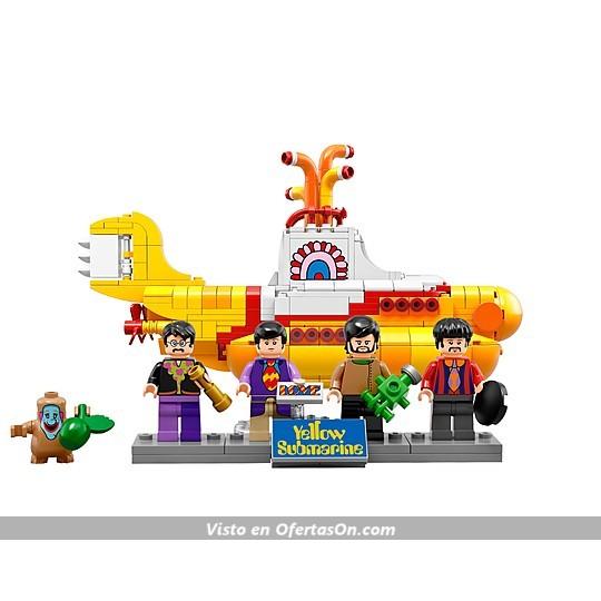 El submarino amarillo de los Beatles de Lego