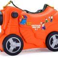 Maleta infantil corre-pasillos con forma de moto de Moltó
