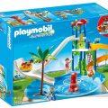 Parque acuático con toboganes de PlayMobil