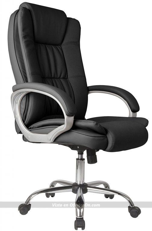 Silla de escritorio VS Venta-stock Confort 2, elevable y reclinable, de piel sintética
