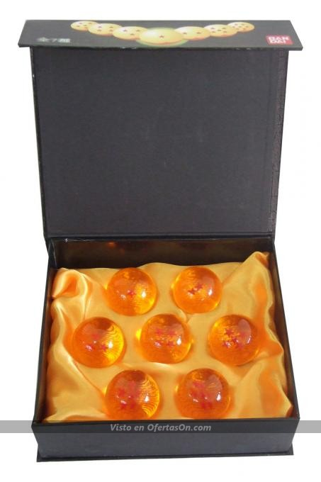 Estuche 7 bolas Dragon Ball Z (4 cm)