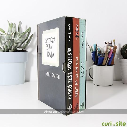 Estuche Destroza esta Caja con 3 libros de Keri Smith