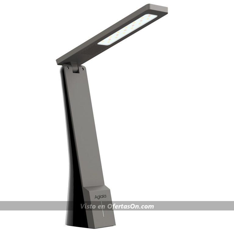 Flexo LED con batería Aglaia con 3 niveles de luminosidad y 3 modos de iluminación
