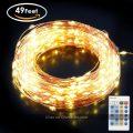 Tira de luces LED Aglaia (150 luces, 15 Metros, Blanco cálido)