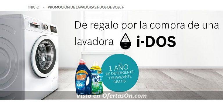con la compra de una lavadora i-dos de bosch, 1 año de detergente y suavizante gratis