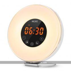 Despertador con radio FM y luz LED Inlife EUE9