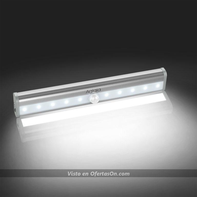 Luz LED auxiliar para armarios, pasillos o estanterías con sensor de movimiento Aglaia IT-LT-W8