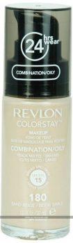 Base de maquillaje Revlon Colorstay 24H para cutis mixto graso con dosificador 180 Sand Beige 30ml