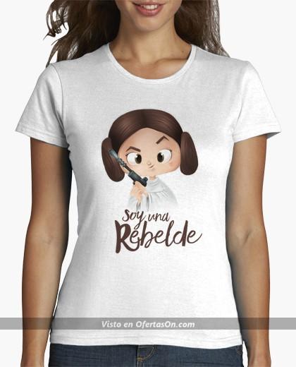 Camiseta chica Princesa Leia Soy una rebelde
