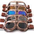 Gafas de sol de piloto retro Steampunk (varios colores)